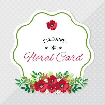 O design floral elegante cartão