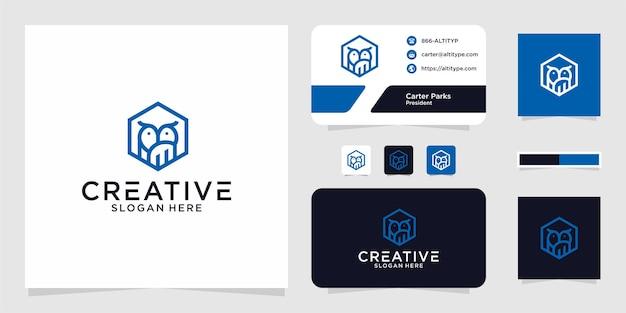O design gráfico da linha da coruja do logotipo para outros usos é perfeito