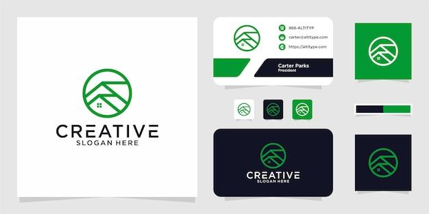 O design gráfico da linha inicial do logotipo para outros usos é perfeito