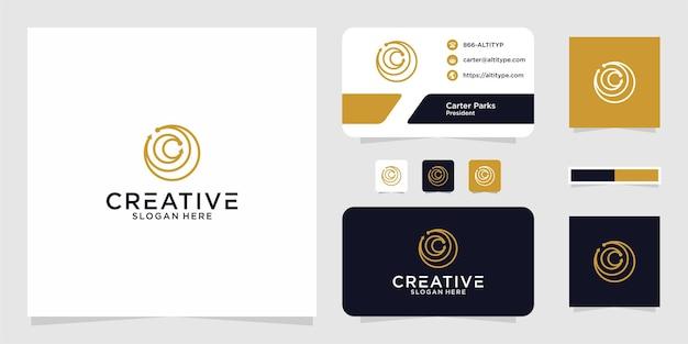 O design gráfico das iniciais do logotipo cc círculo linha para outros usos é perfeito