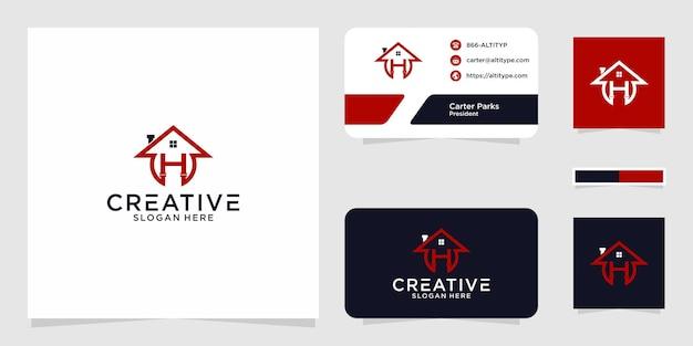 O design gráfico do logotipo de casa h para outro uso é perfeito