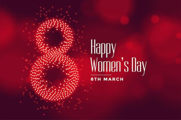 O dia das mulheres felizes adoráveis deseja o cartão