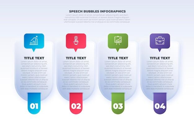 O discurso gradiente borbulha infográficos