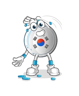 O distintivo da coreia se alongando