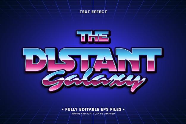 O efeito de texto da galáxia distante