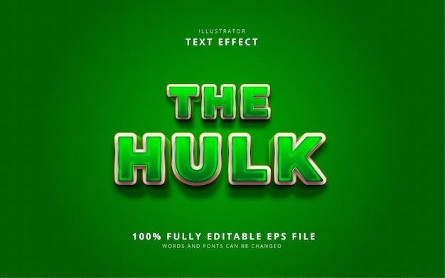 O efeito de texto hulk