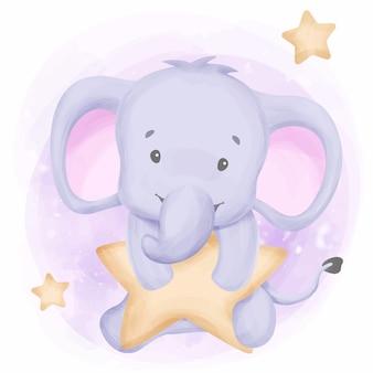 O elefante dos sonhos doces alcança as estrelas
