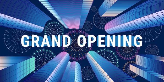 O elemento de design do modelo para a cerimônia de abertura pode ser usado como banner ou folheto