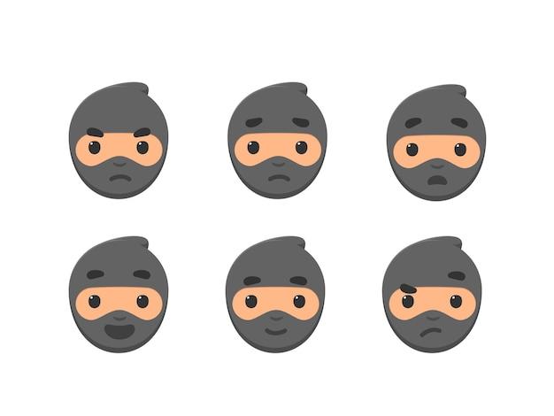 O emoticon de ninja - smiley de emoticon de feedback.