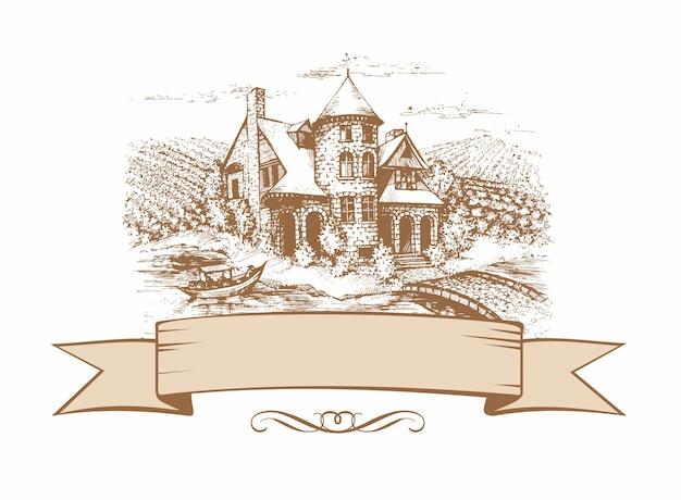 O esboço do castelo