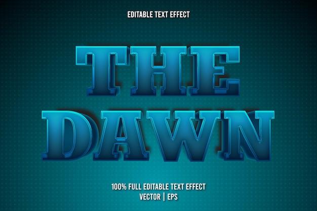 O estilo retro do efeito de texto editável do amanhecer
