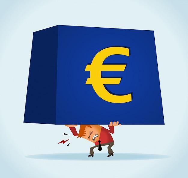 O euro está caindo