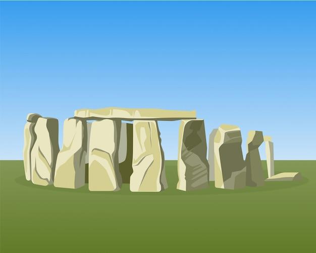 O famoso monumento pré-histórico de stonehenge consiste em pedras eretas em anel