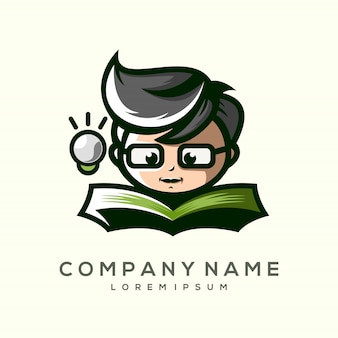 O filho de um design de logotipo premium
