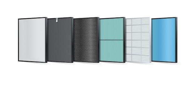 O filtro de ar multicamadas consiste em várias camadas de filtro