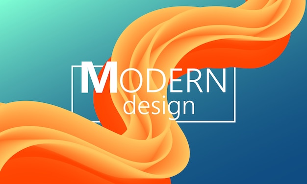 O fluxo de fluido. forma de cor moderna. fundo abstrato. cartaz futurista. capa de gradiente colorida. .