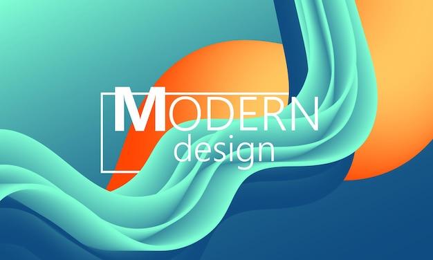 O fluxo de fluido. forma de cor na moda. capa de gradiente colorida.