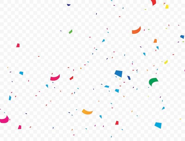 O fundo colorido confete que está caindo ilustração vetorial