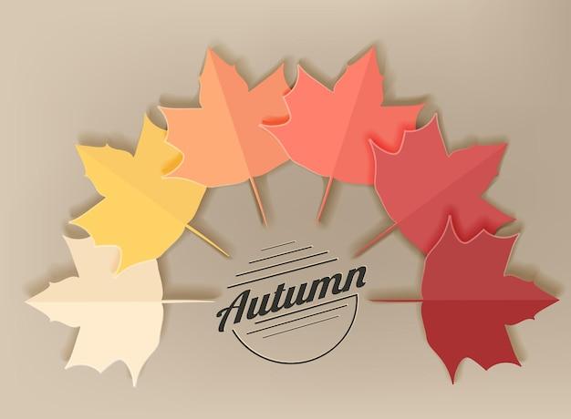 O fundo com lindas folhas de bordo de outono pode ser usado como banner de panfleto ou pôster