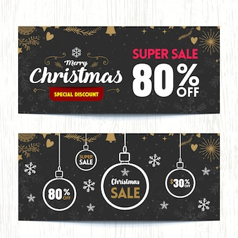 O fundo de banner super venda de natal.