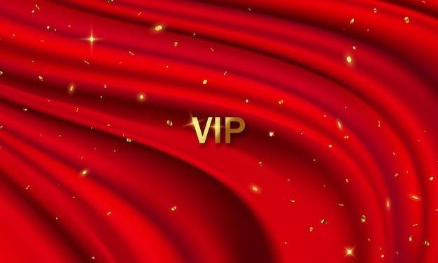 O fundo é uma cortina de teatro vip vermelha. ilustração em formato vetorial.