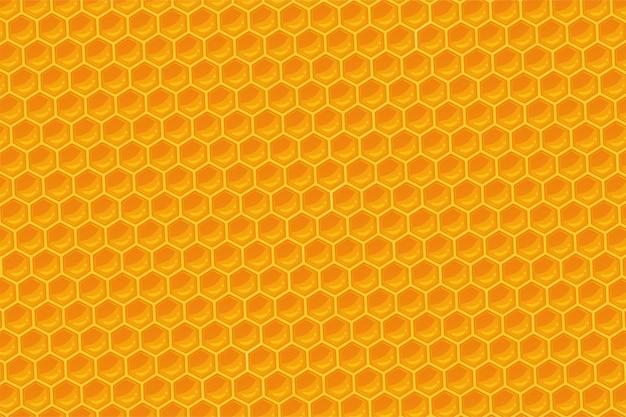 O fundo geométrico do favo de mel.