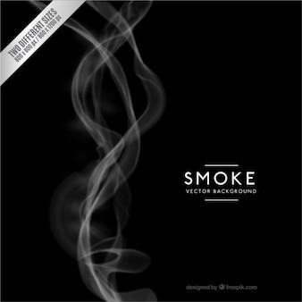 O fundo preto fumaça
