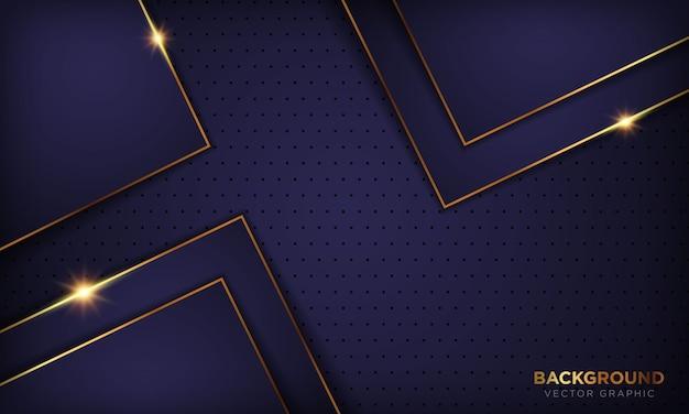 O fundo roxo abstrato do luxo escuro dá forma ao fundo com a decoração da linha dourada. textura com luz brilhante dourada.
