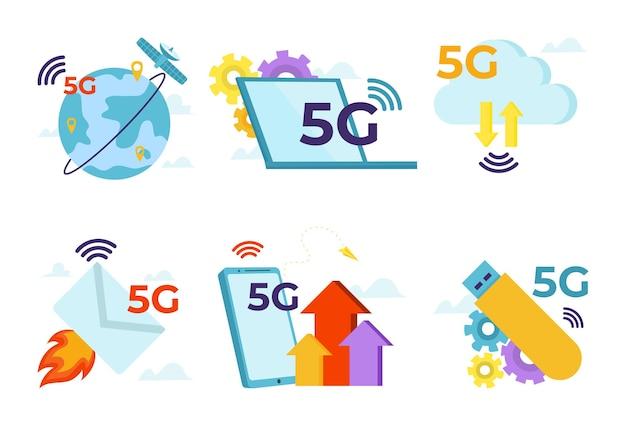 O futuro da tecnologia da internet define a comunicação móvel de alta velocidade