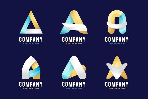O gradiente coloriu um modelo de logotipo
