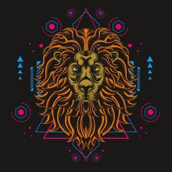 O grande leão geometria sagrada