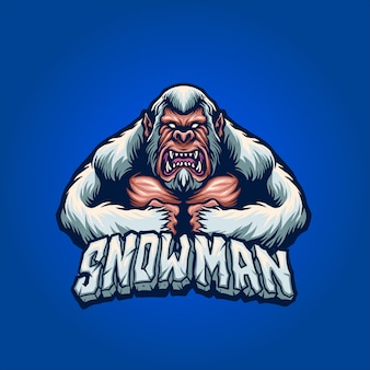 O homem da neve com raiva