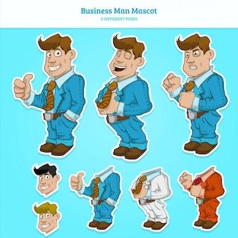 O homem de negócios pose colecção