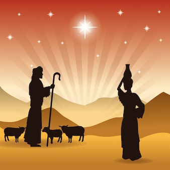 O ícone do pastor e das ovelhas