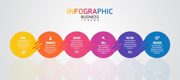 O infográfico pode ser usado para o processo de apresentação, gráfico de dados