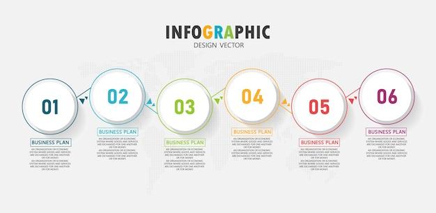 O infográfico pode ser usado para processos, apresentações, layout, banner, gráfico de informações