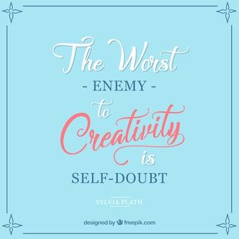 O inimigo de citação criatividade no estilo do vintage