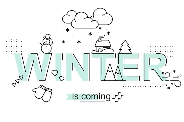 O inverno está chegando. design da temporada