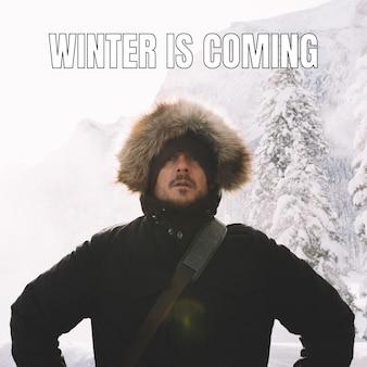 O inverno está chegando meme