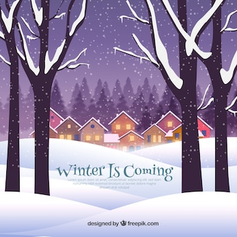 O inverno está vindo para a cidade