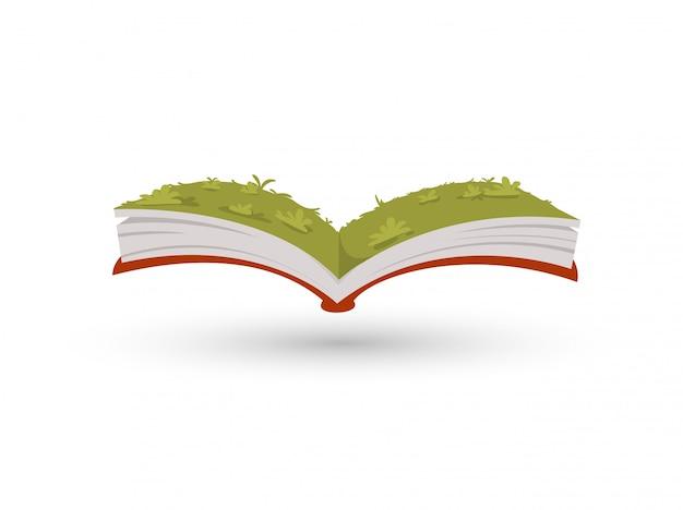 O jardim de grama no livro