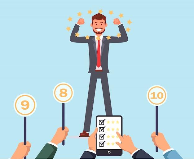 O júri dá sucesso marcas principais do empregado. recrutando.