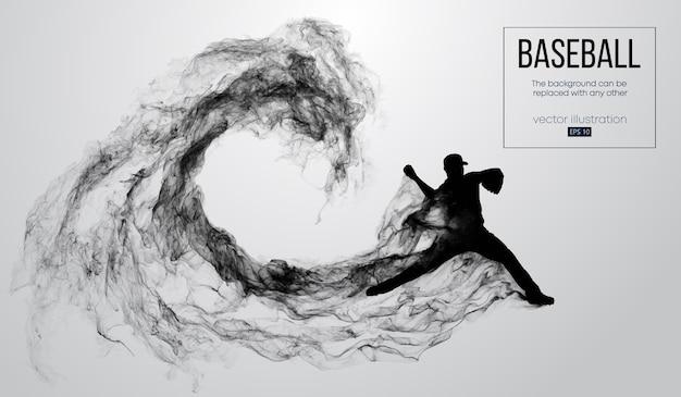 O lançador do jogador de beisebol lança a bola. o fundo pode ser alterado para qualquer outro