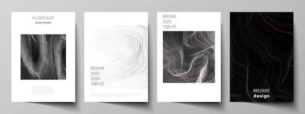O layout dos modelos de capa de formato moderno para brochura