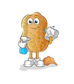 O limpador de amendoim. personagem de desenho animado
