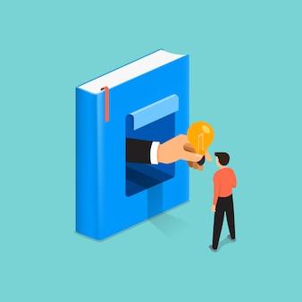 O livro do conceito de ilustrações é conhecimento e uma grande ideia para as pessoas. ilustrar.