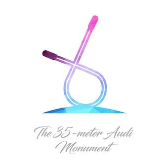 O logotipo 35 metros audi monument