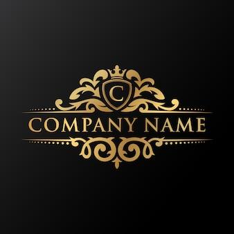 O logotipo da empresa de luxo