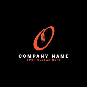 O logotipo da food letter com o símbolo do garfo