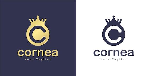 O logotipo da letra c tem um conceito de reino